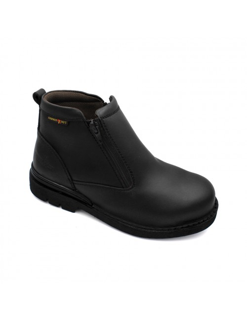 HAMMER KING Safety Genuine Leather Boots MZHK13003 Black