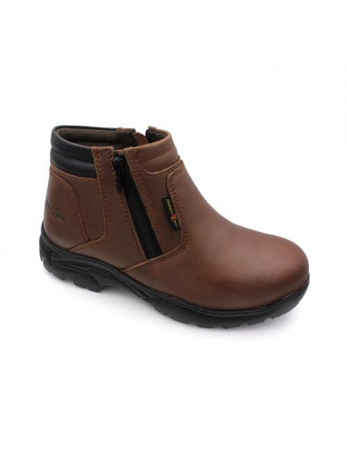 HAMMER KING Safety Genuine Leather Boots MZHK13013 Brown
