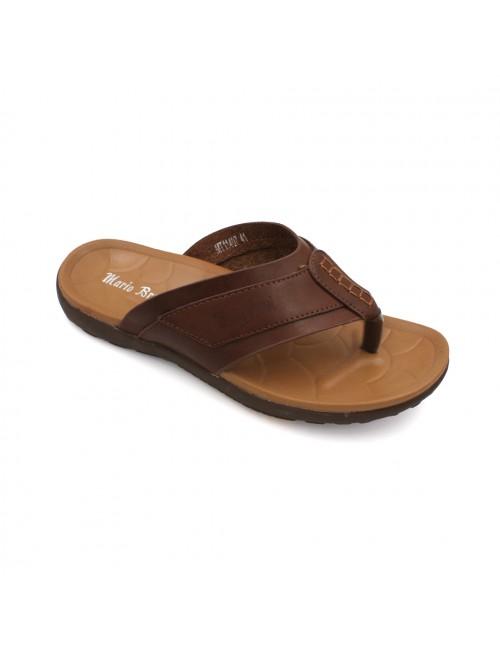 MARIO BRUNI Comfortable Latex Sandals MBMT11407 Brown