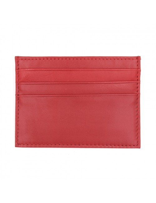 MIDZONE Genuine Leather Card Holder MZWW190501_A Red