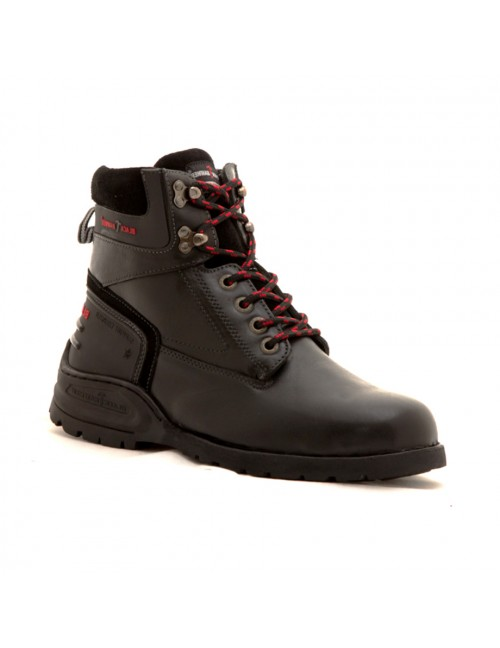 BLACK HAMMER Genuine Cow Leather Safety Boots BH5102 Black