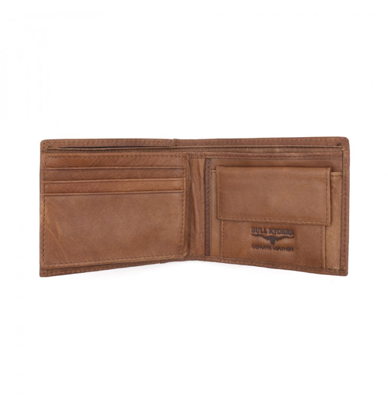 BULL RYDERS Genuine Cow Leather Wallet BWGS-80523