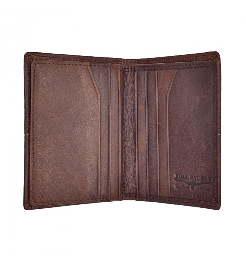 BULL RYDERS Genuine Cow Leather Small Wallet BWHB-80582