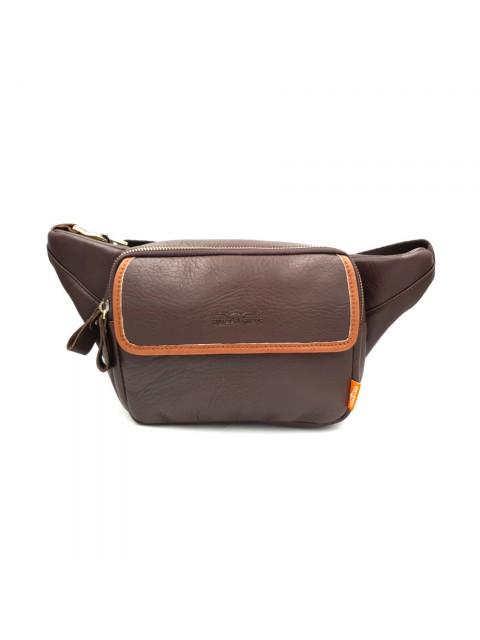 BULL RYDERS Premium Leather Waist Bag BR-88108 Dark Brown