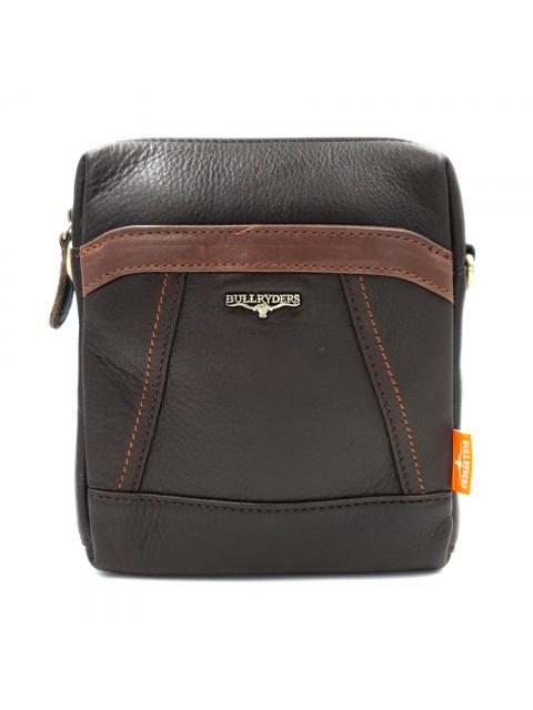 BULL RYDERS Premiu Cow Leather Small Sling Bag BR-88137 Dark Brown
