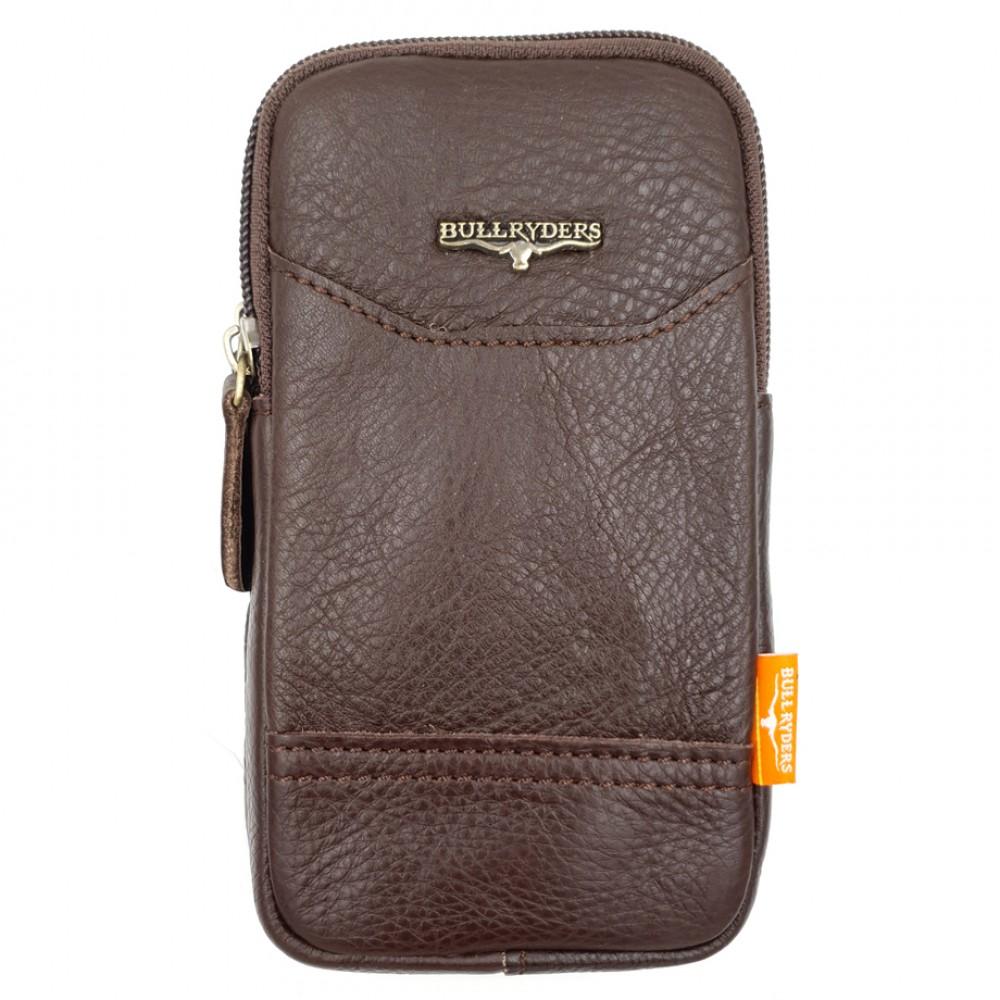 BULL RYDERS Genuine Cow Leather Belt Bag BR-88145 Dark Brown
